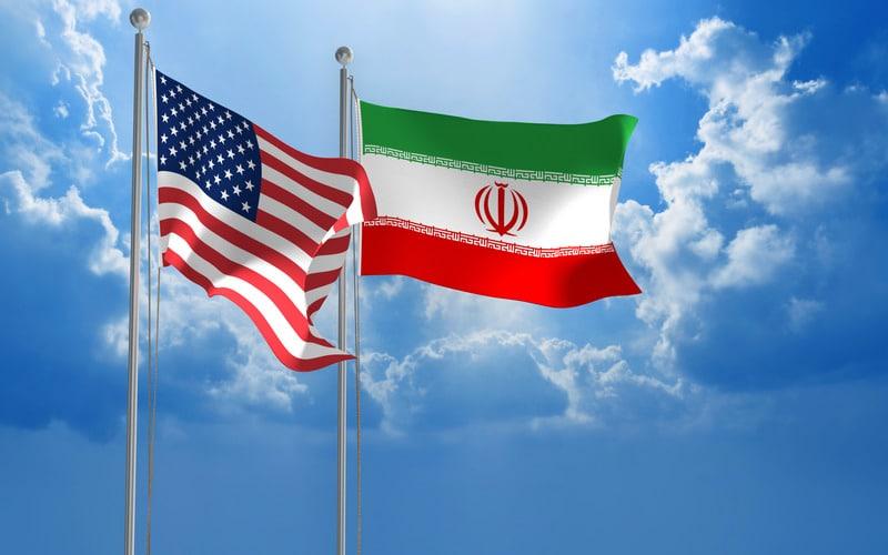 Флаги США Иран изображение