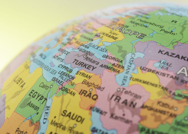 Ближний Восток на карте