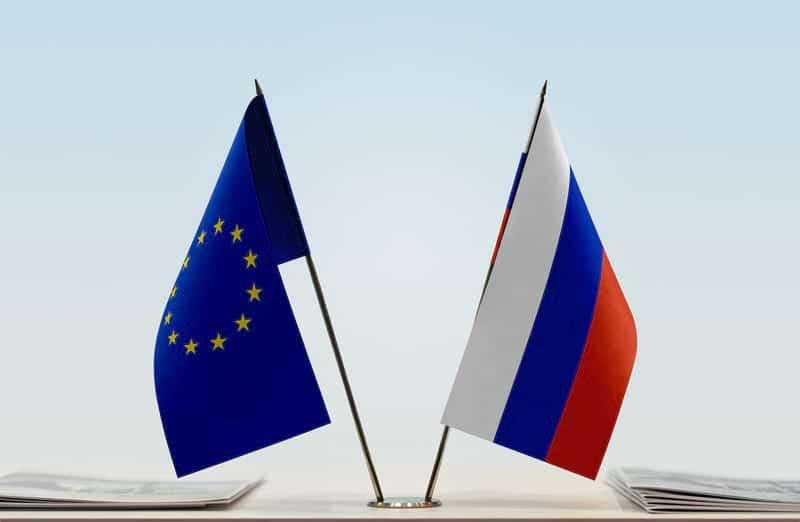 Флаги ЕС и России фото