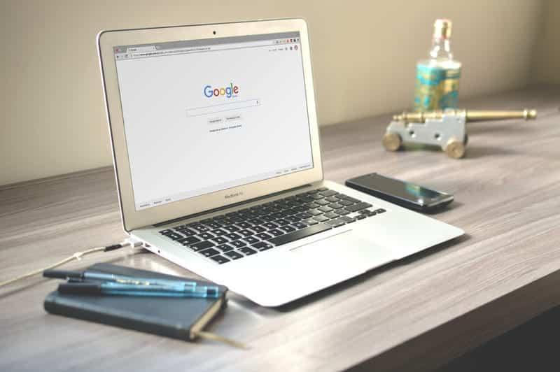 Google Chrome на ноутбуке фото
