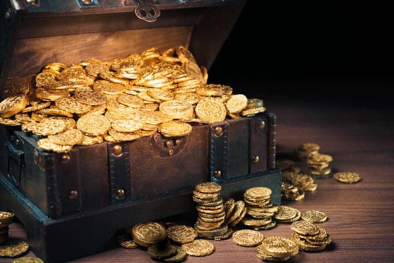 Клад монеты картинка