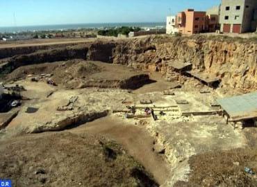 Mesto arheologicheskih raskopok v Marokko