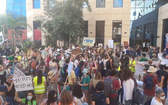 протест против строительства израиль фото