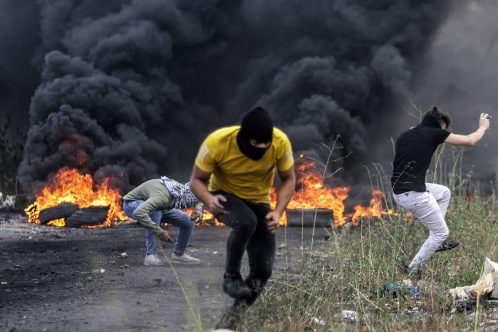 протесты палестинцев израиль фото