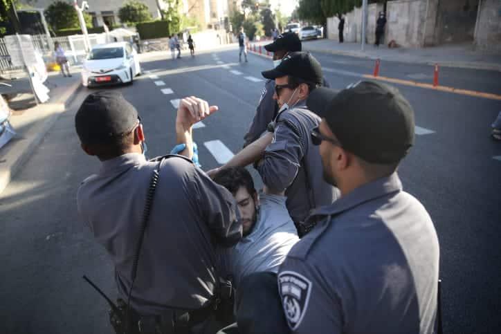 Protesty protiv Netaniyagu v Ierusalime 2