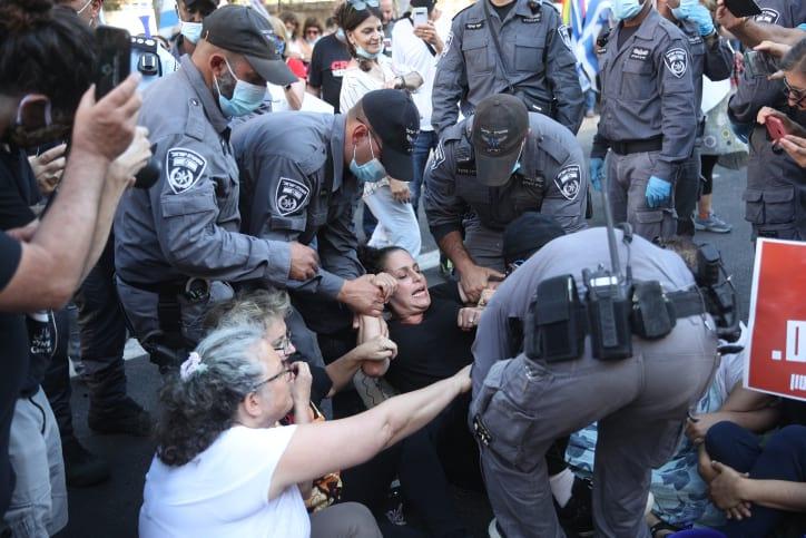 Protesty protiv Netaniyagu v Ierusalime 3