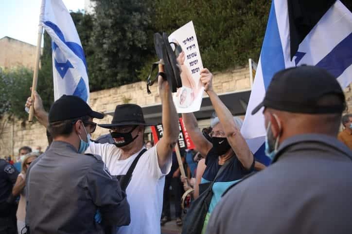 Protesty protiv Netaniyagu v Ierusalime 5