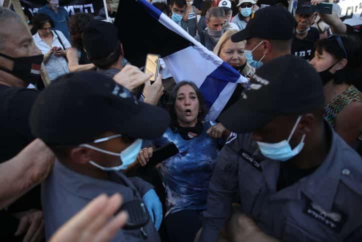 Protesty protiv Netaniyagu v Ierusalime 6