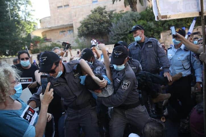 Protesty protiv Netaniyagu v Ierusalime