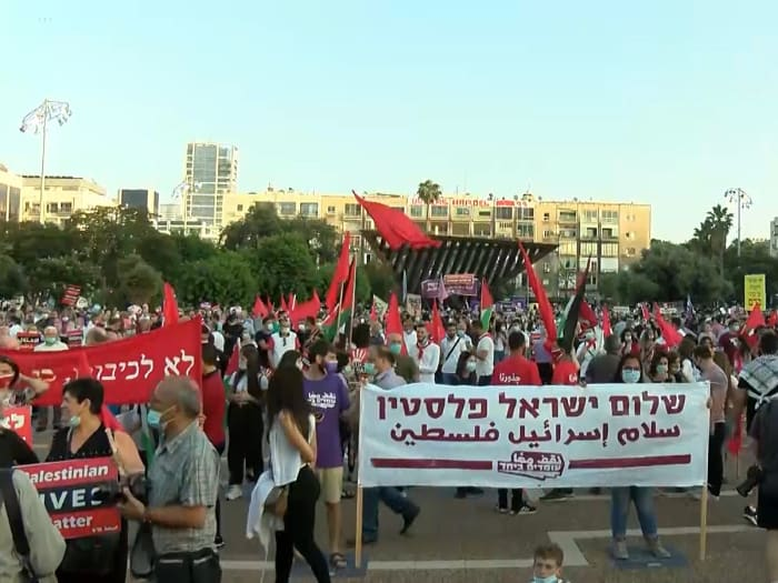 Protesty protiv anneksii v Tel Avive