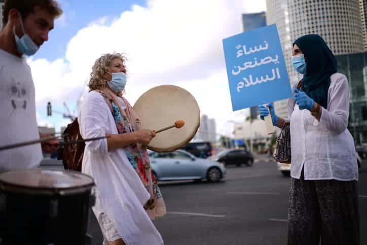ZHenskij protest protiv anneksii v Tel Avive 2