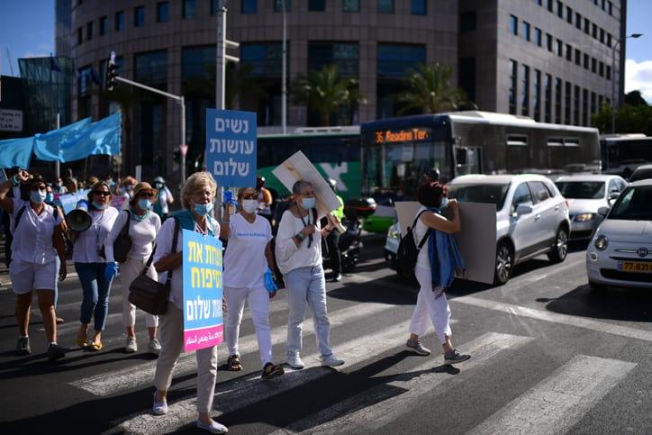 ZHenskij protest protiv anneksii v Tel Avive 5