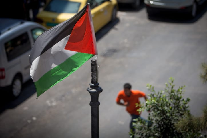 Флаг Палестинской автономии улица фото