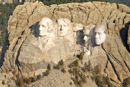 Kane Uest dobavil svoe izobrazhenie k memorialu velichajshih prezidentov SSHA