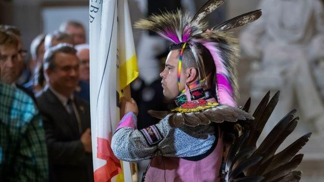 Predstavitel indejskogo plemeni CHokto