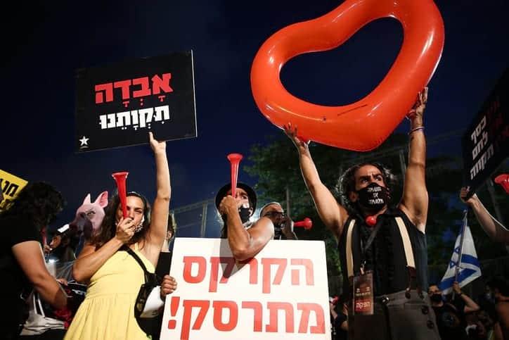 Protest predprinimatelej v Tel Avive