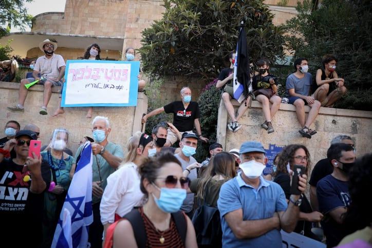 Protest protiv korruptsii u rezidentsii Netaniyagu 6
