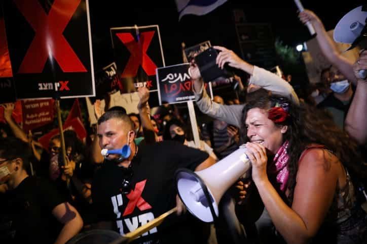 Protest u rezidentsii Netaniyagu 5