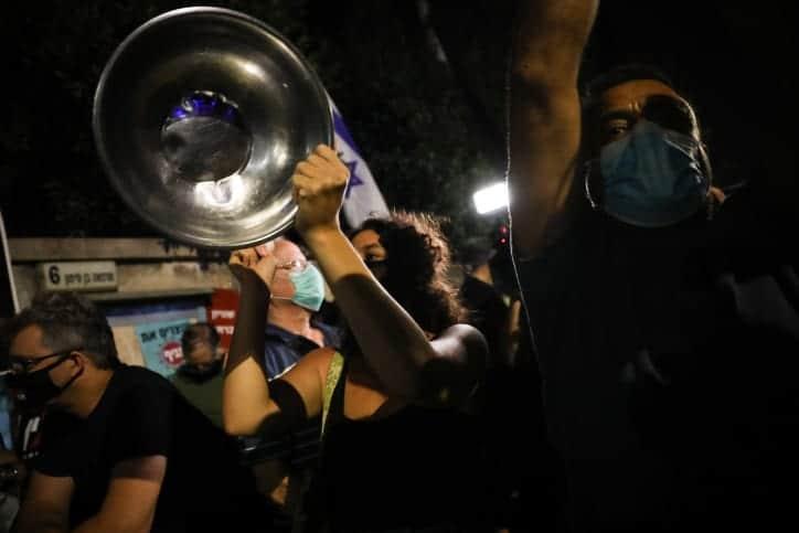 Protest u rezidentsii Netaniyagu 6