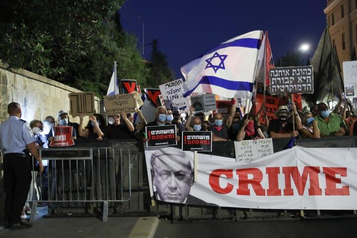 Protest u rezidentsii Netaniyagu 9