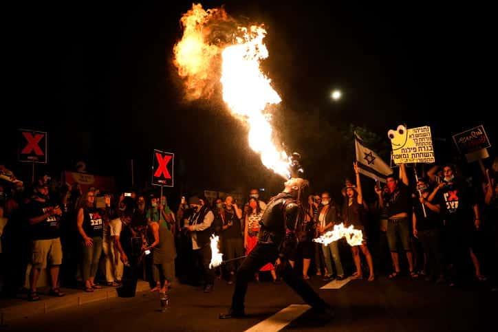 Protest u rezidentsii Netaniyagu