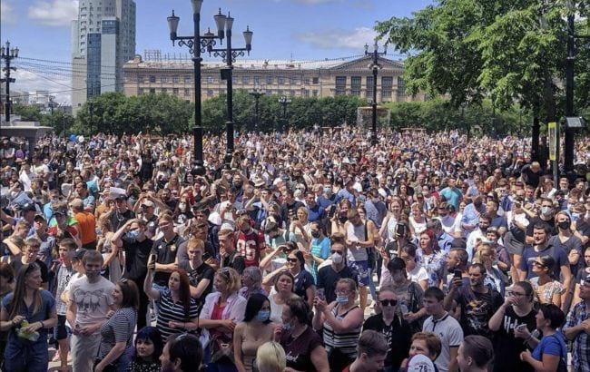 Protest v Habarovske