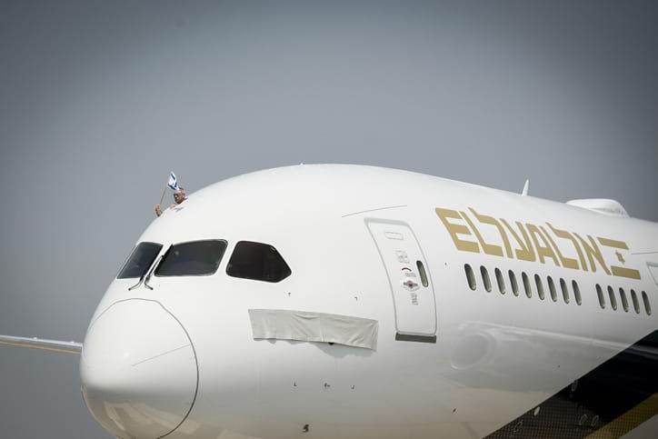 Самолет авиакомпании Эль-Аль фото