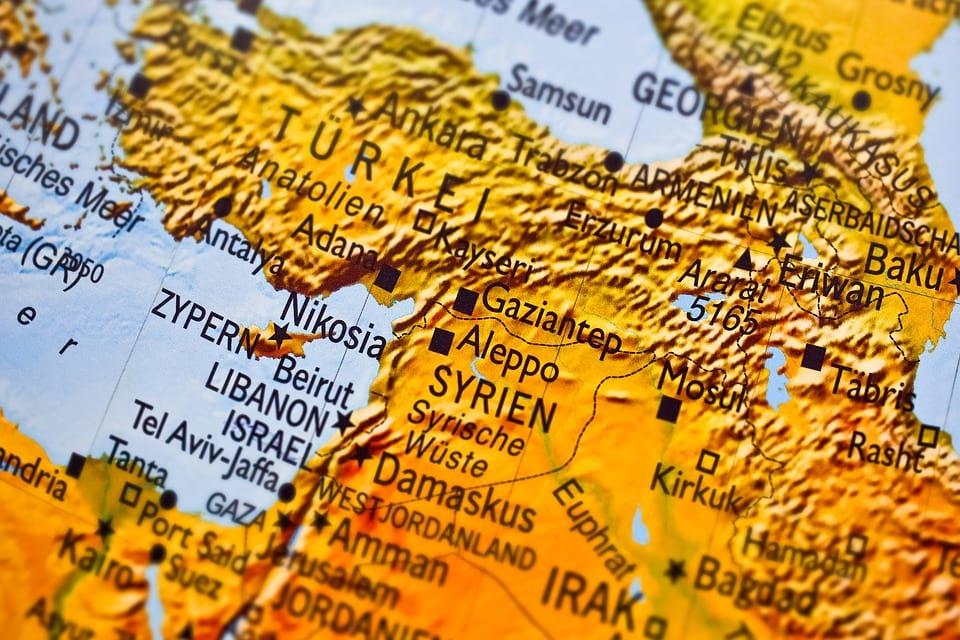 Сирия на карте изображение