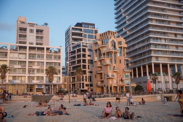 пляж в тель-авиве фото