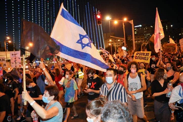 Protesty protiv Netaniyagu v Ierusalime 2 1