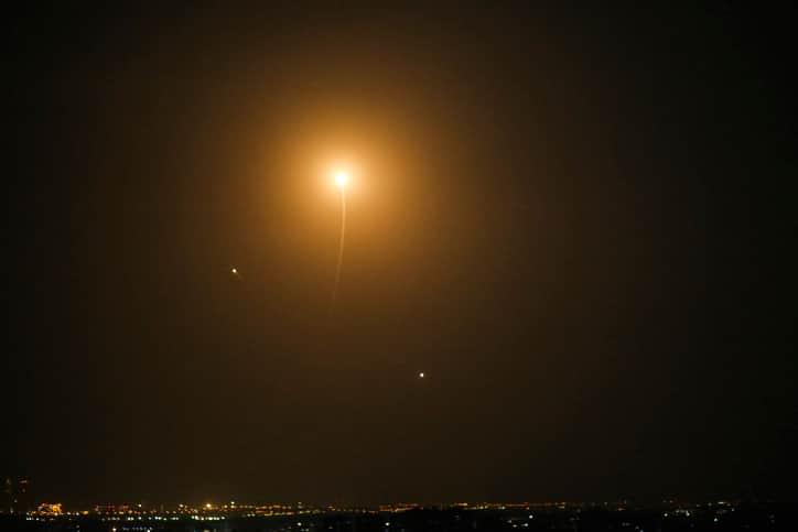 ракетная атака израиль фото