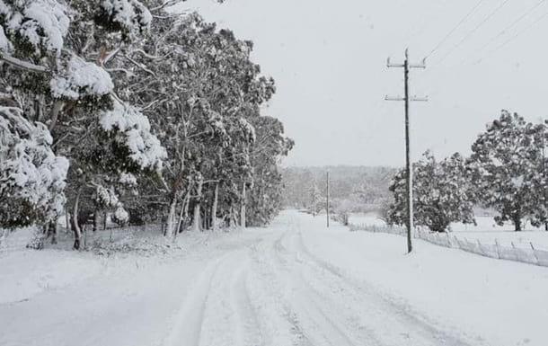 снегопад дорога фото