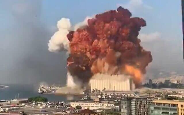 взрыв в бейруте фото