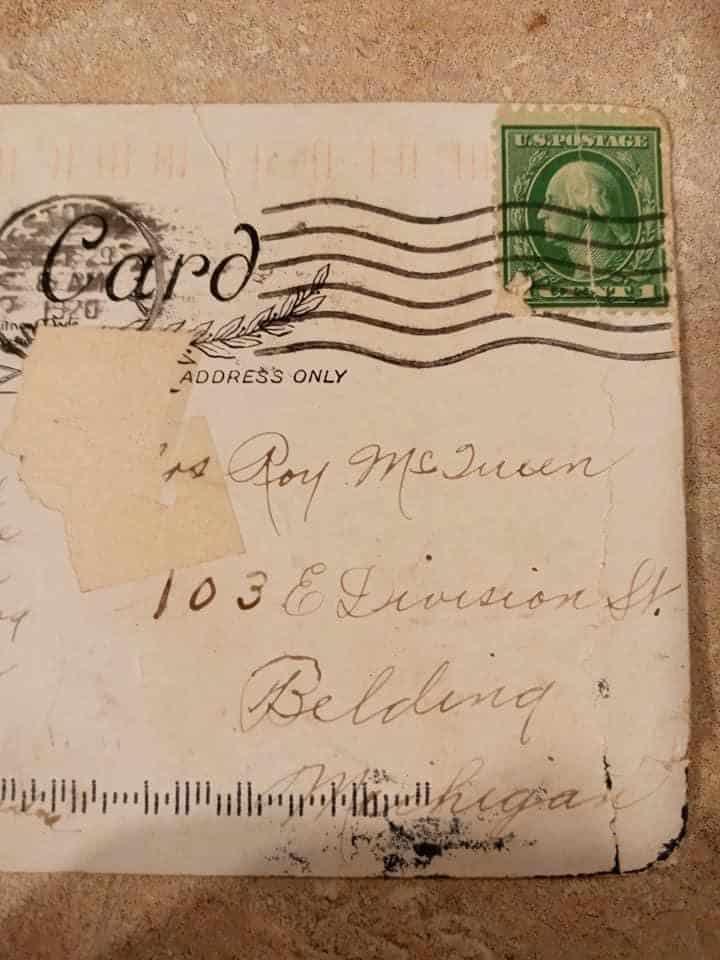 Amerikanka poluchila po pochte otkrytku otpravlennuyu 100 let nazad