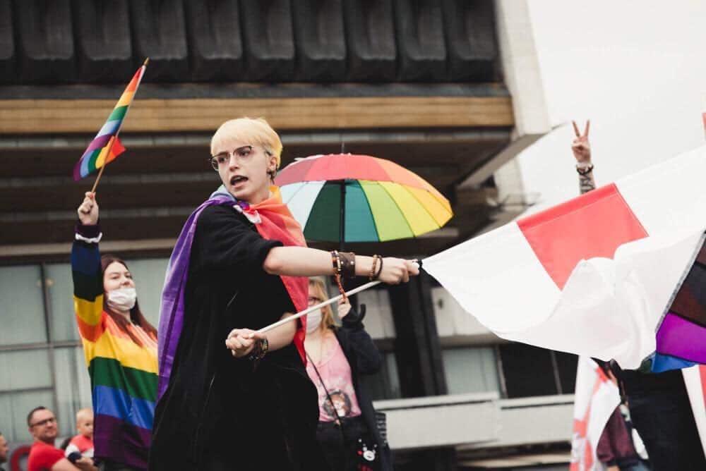 Анна Мария Ефремова на протестах в Беларуси фото