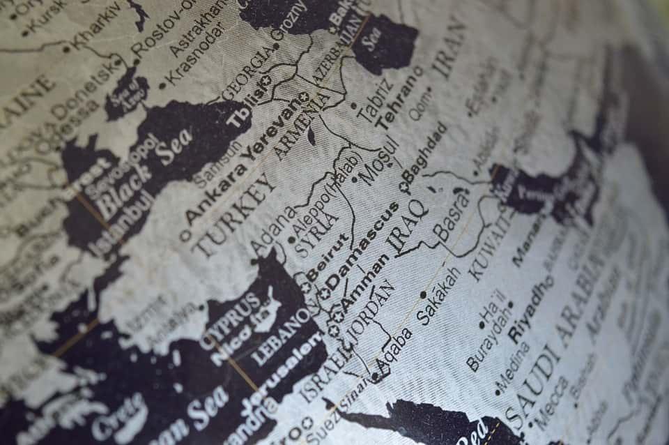 Ближний Восток глобус фото