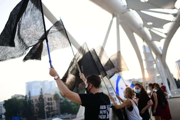 Demonstranty provodyat protest protiv Netaniyagu