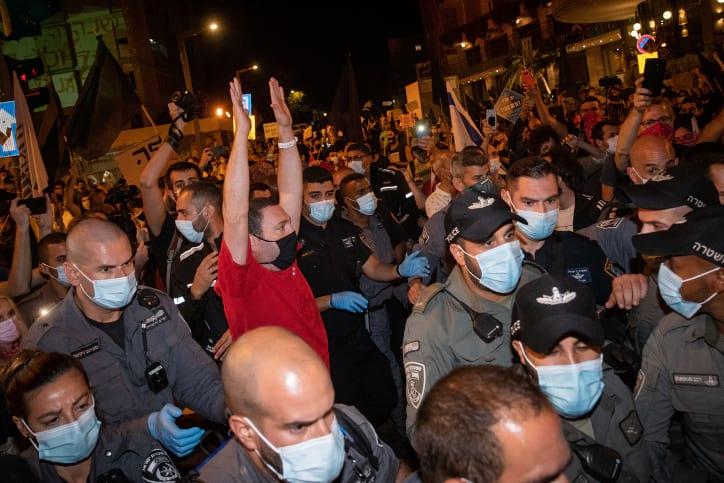 Demonstratsii protiv Netaniyagu 9