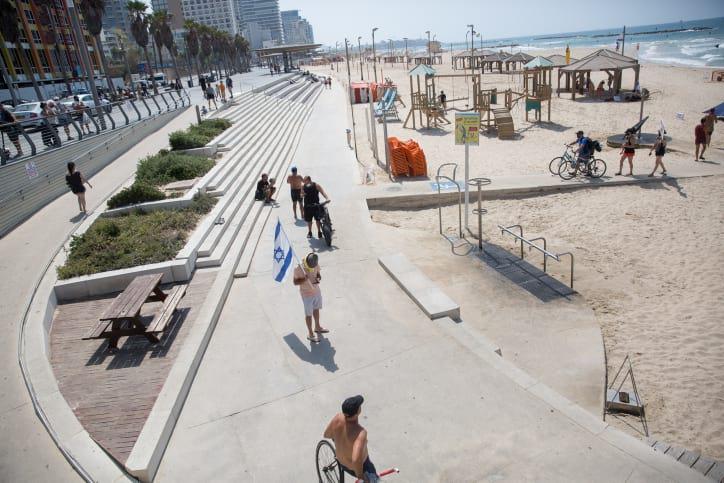 пляж тель-авив израиль фото
