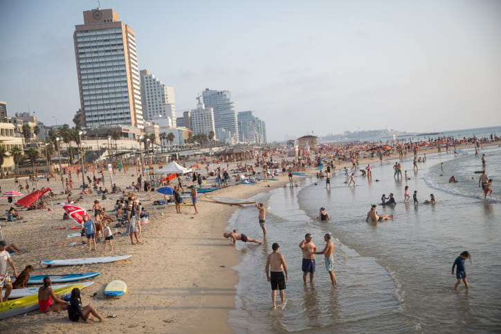 Пляжи в Тель-Авиве фото