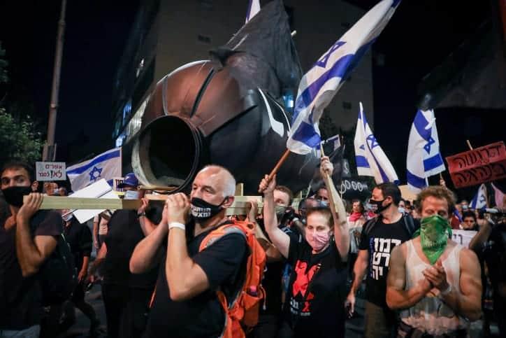 Протесты против Нетаниягу в Иерусалиме фото