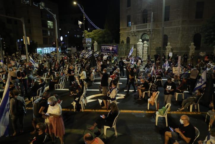 Protesty u rezidentsii Netaniyagu 1