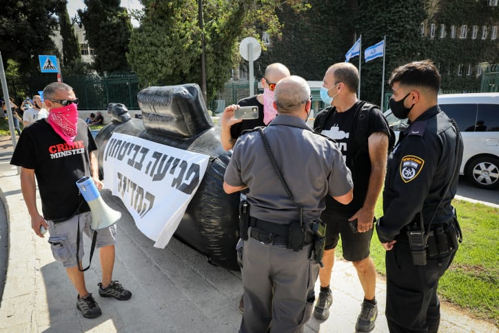 Protesty u zdaniya Knesseta protiv uzhestocheniya karantinnyh ogranichenij