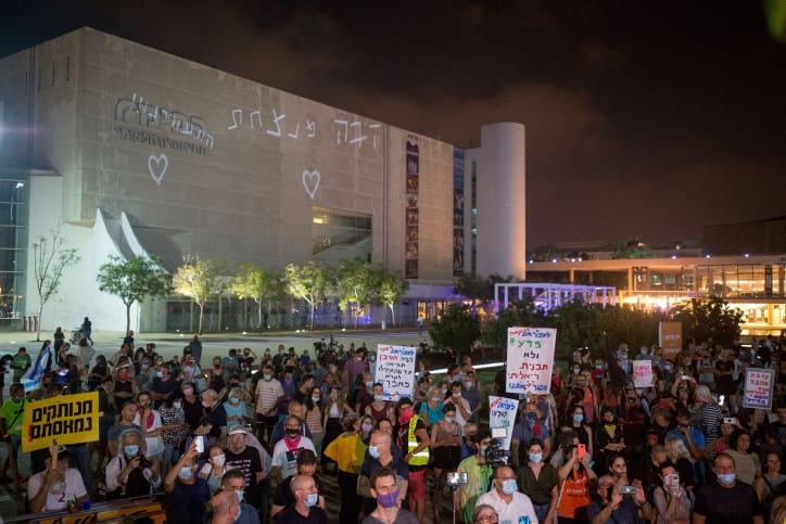 Protesty v Tel Avive 1