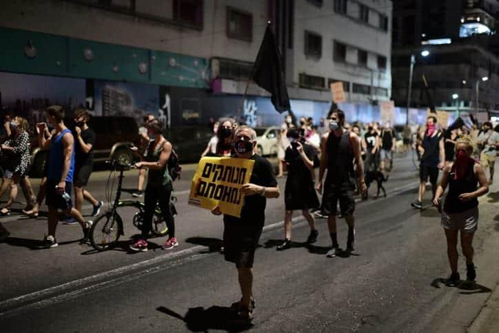 Protesty v Tel Avive 2 1