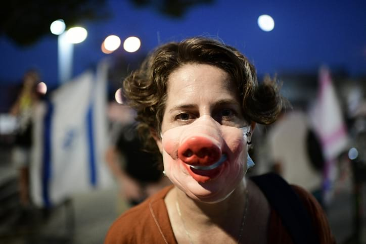 Protesty v Tel Avive 7 1