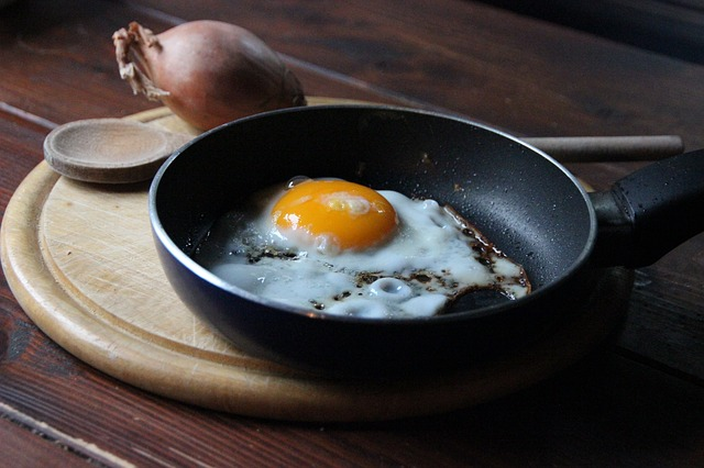 яичница на сковородке фото