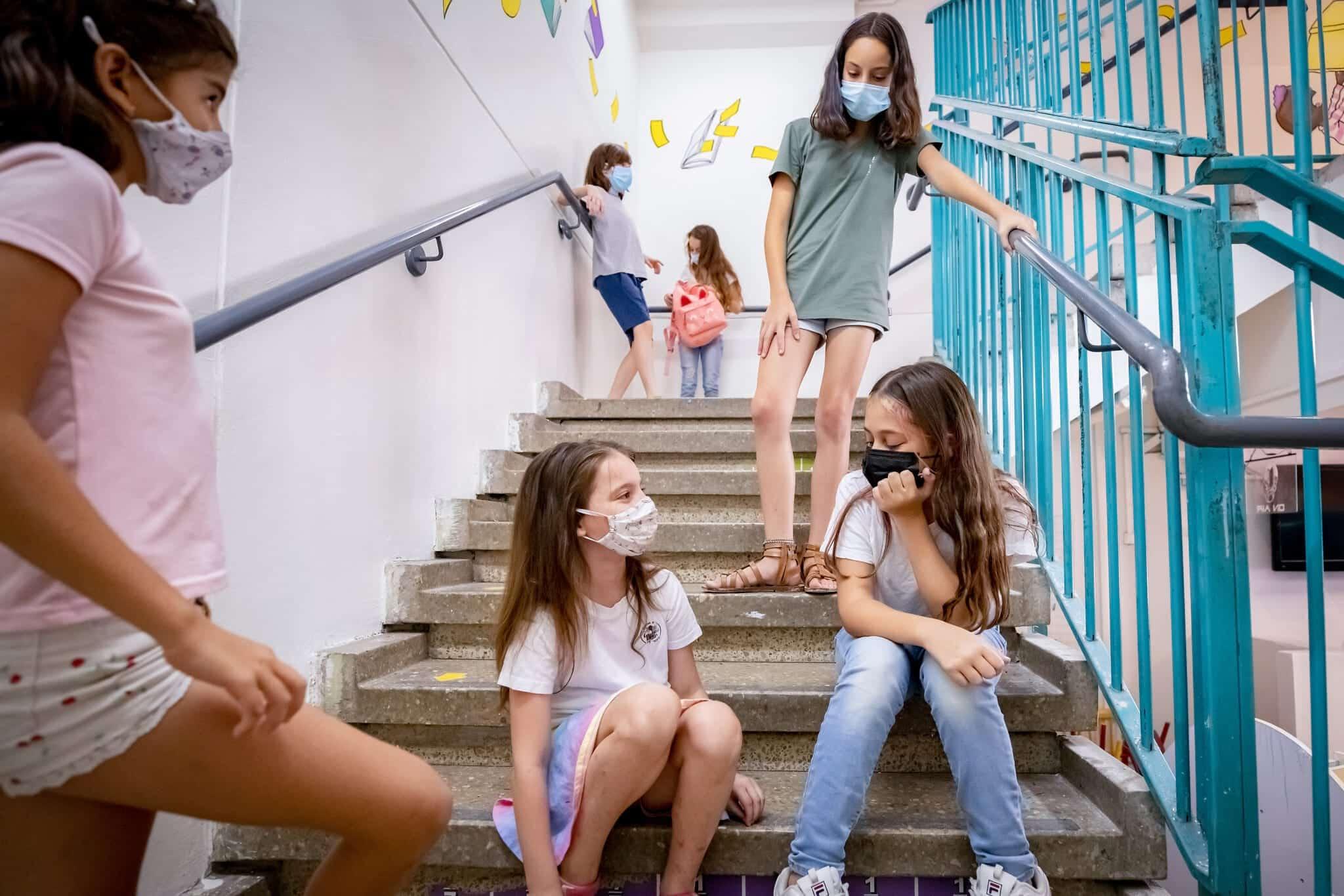 Uchashhiesya odnoj iz shkol v Tel Avive