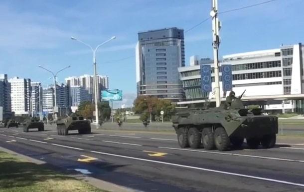 В центр Минска направляется бронетехника фото