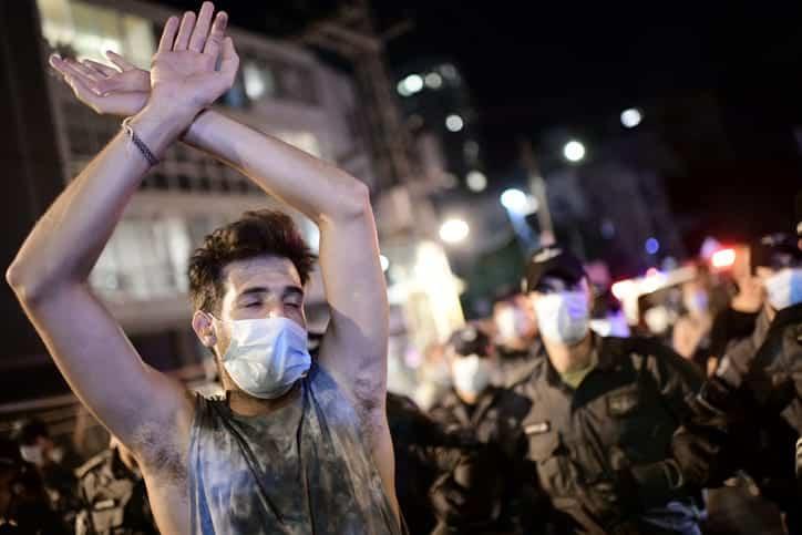 протесты в Тель-Авиве фото